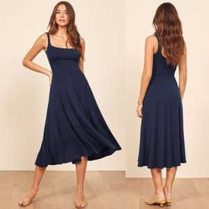 Reformation Jeans Mary Tank Dress in Navy